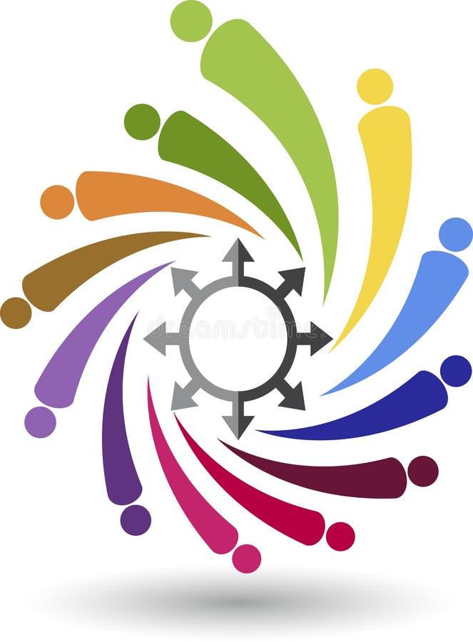 Logo dell'amico della fabbrica illustrazione vettoriale