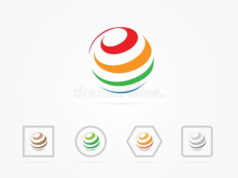Logo dell'arcobaleno del globo dell'illustrazione royalty illustrazione gratis