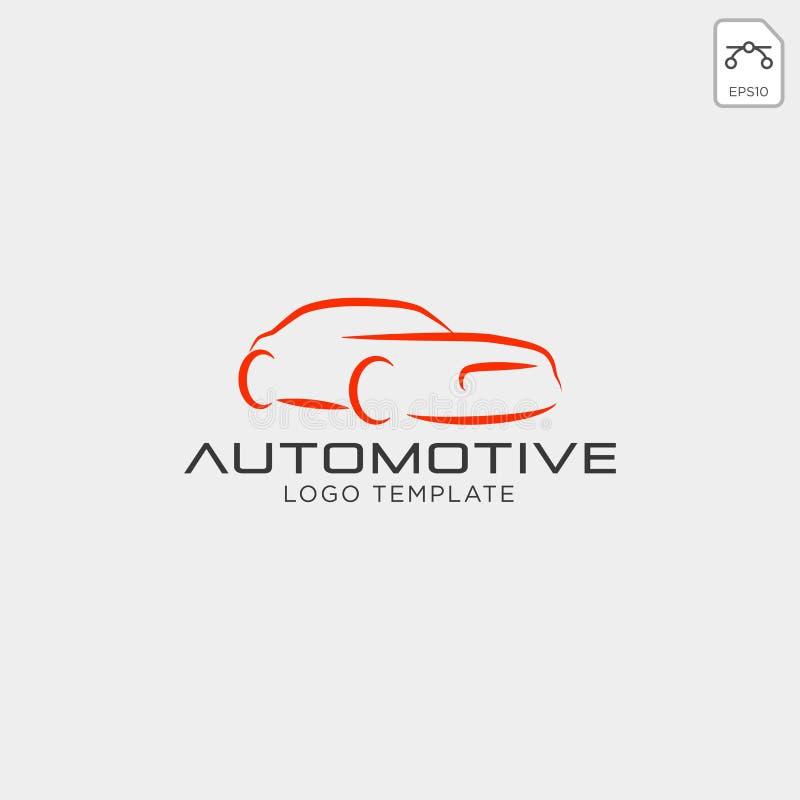 Logo dell'automobile nella linea semplice vettore del modello di progettazione grafica - vettore illustrazione vettoriale