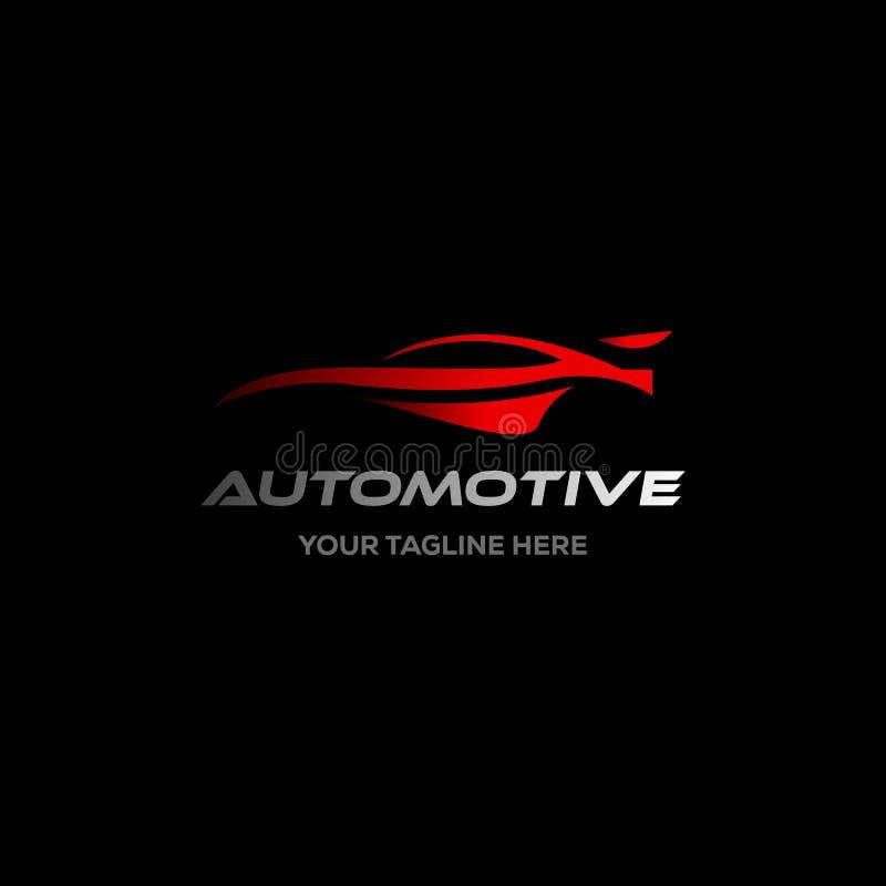 Logo dell'automobile nella linea semplice vettore del modello di progettazione grafica illustrazione vettoriale