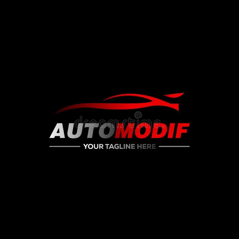 Logo dell'automobile nella linea semplice vettore del modello di progettazione grafica illustrazione di stock