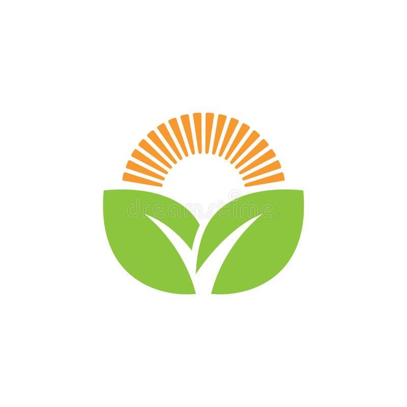 Logo dell'azienda agricola o logo verde alternativo di energia royalty illustrazione gratis