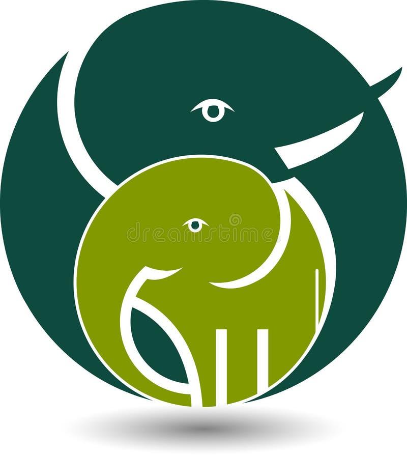 Logo dell'elefante illustrazione di stock