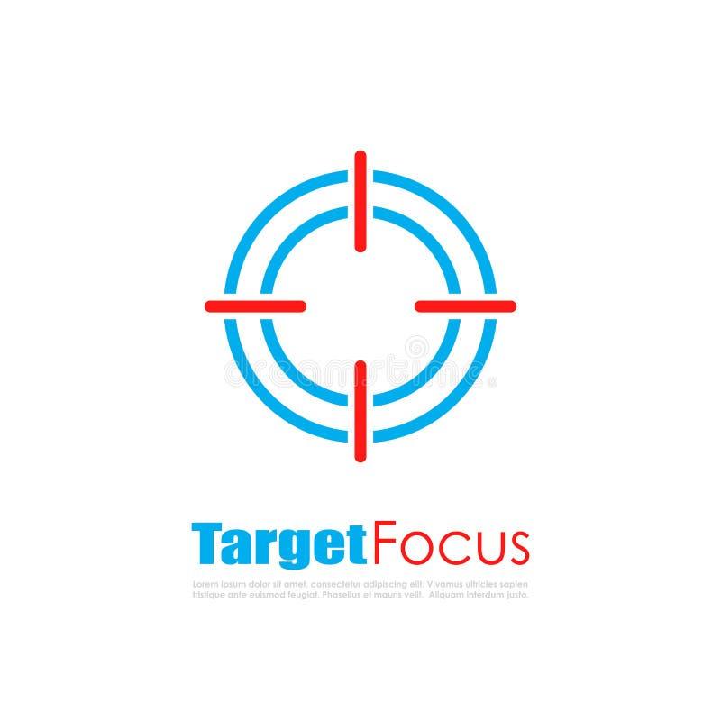 Logo dell'estratto del fuoco dell'obiettivo illustrazione vettoriale