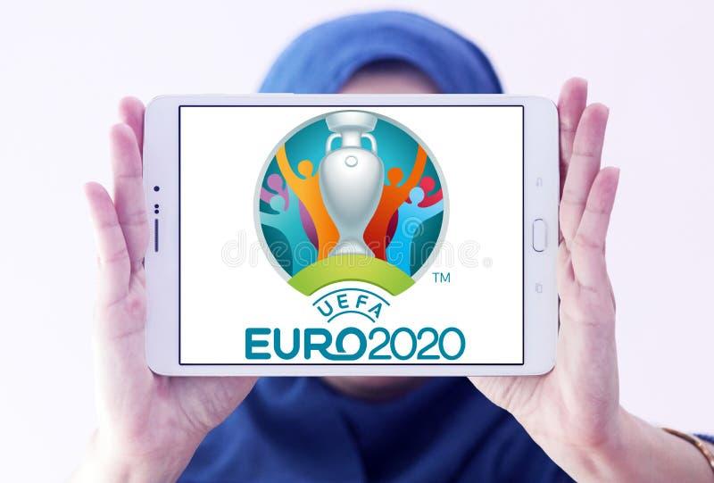 Logo 2020 dell'euro dell'UEFA fotografia stock libera da diritti
