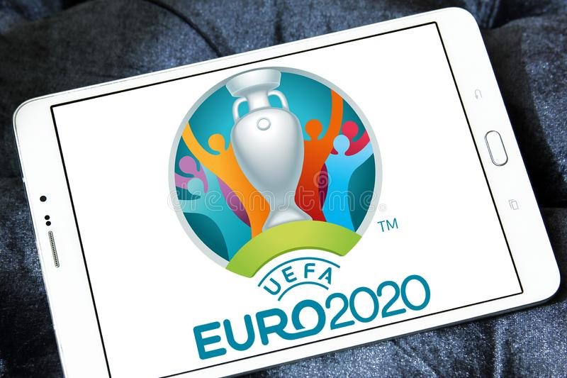 Logo 2020 dell'euro dell'UEFA fotografie stock