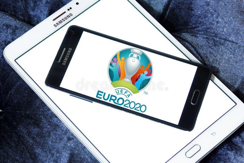 Logo 2020 dell'euro dell'UEFA immagine stock