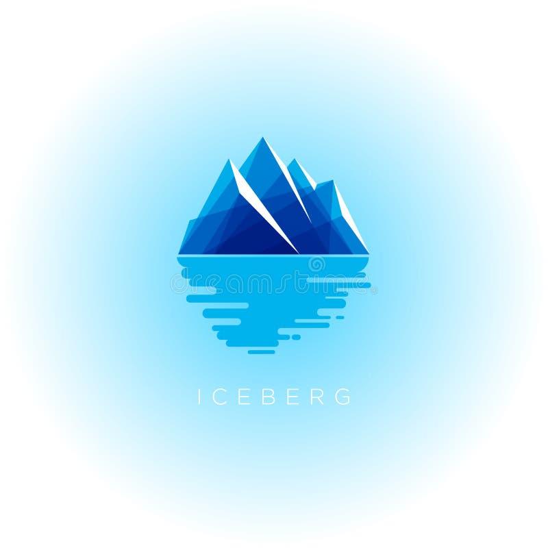 Logo dell'iceberg Iceberg trasparente blu dell'emblema dell'iceberg con la riflessione royalty illustrazione gratis