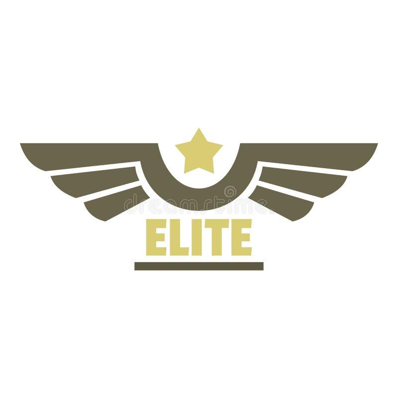 Logo dell'icona dell'aeronautica dell'elite, stile piano illustrazione vettoriale