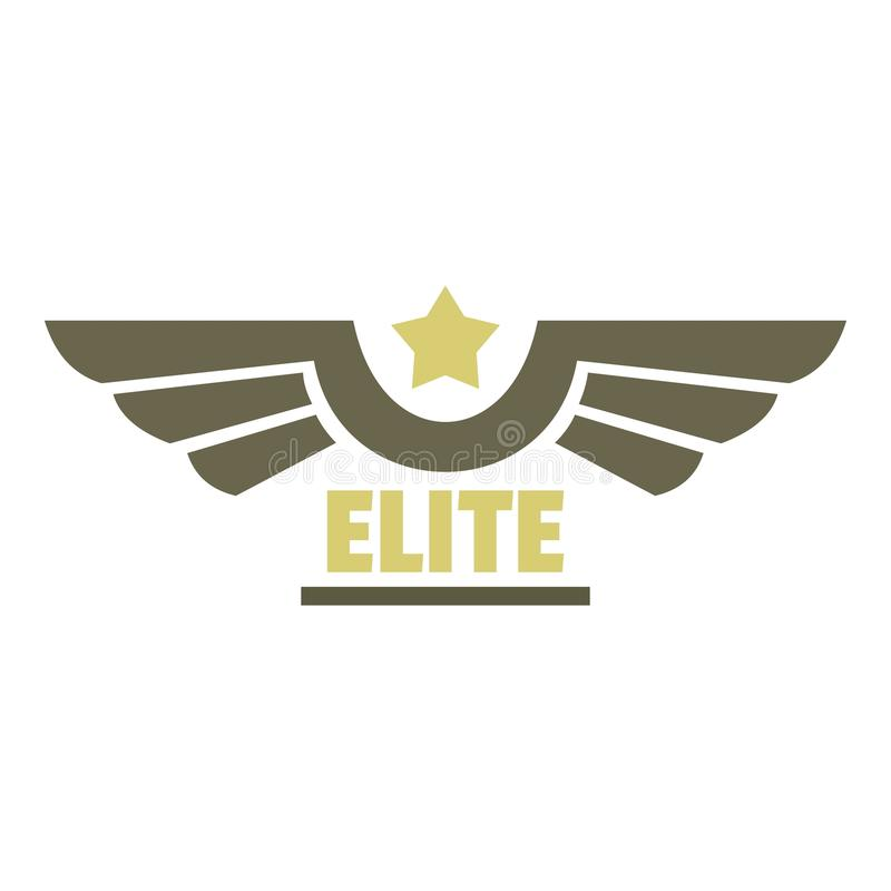 Logo dell'icona dell'aeronautica dell'elite, stile piano illustrazione di stock
