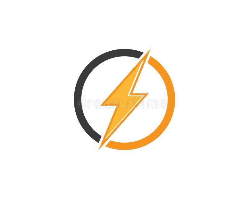logo dell'icona del fulmine e vettore del modello di simboli fotografia stock libera da diritti