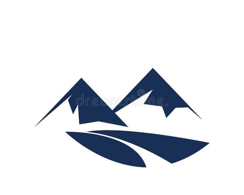 Logo dell'icona della montagna fotografia stock