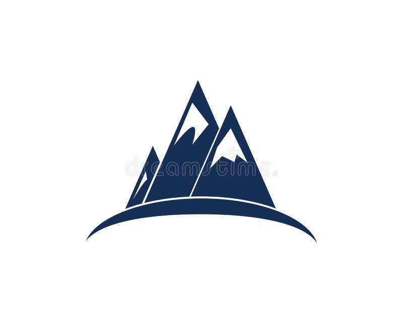 Logo dell'icona della montagna immagine stock