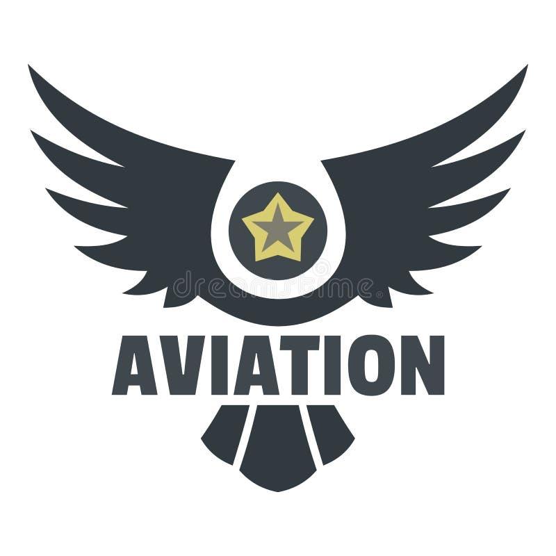 Logo dell'icona di aviazione, stile piano illustrazione vettoriale