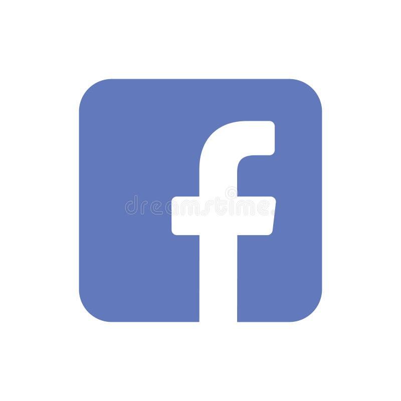 Logo dell'icona di Facebook illustrazione di stock