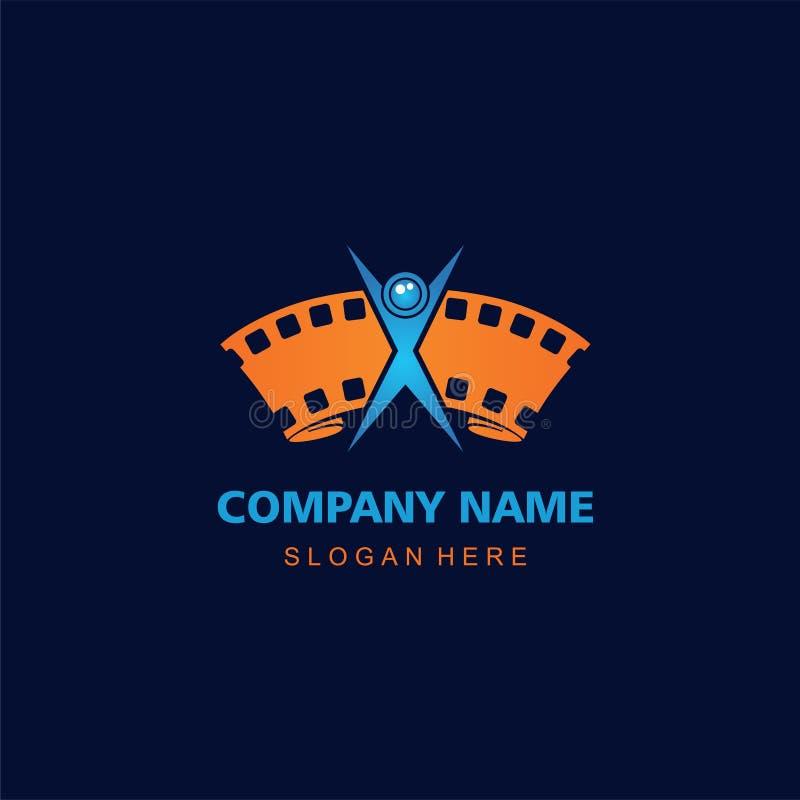Logo dell'icona di fotografia per la filigrana del fotografo fotografie stock libere da diritti