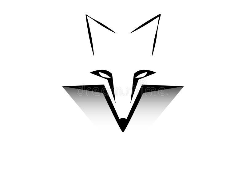 Logo dell'icona di Fox illustrazione di stock