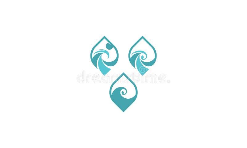Logo dell'icona di vettore di Wave illustrazione di stock