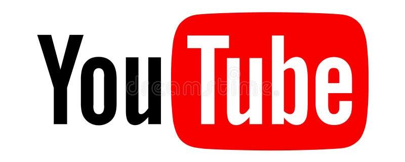 Logo dell'icona di Youtube illustrazione vettoriale