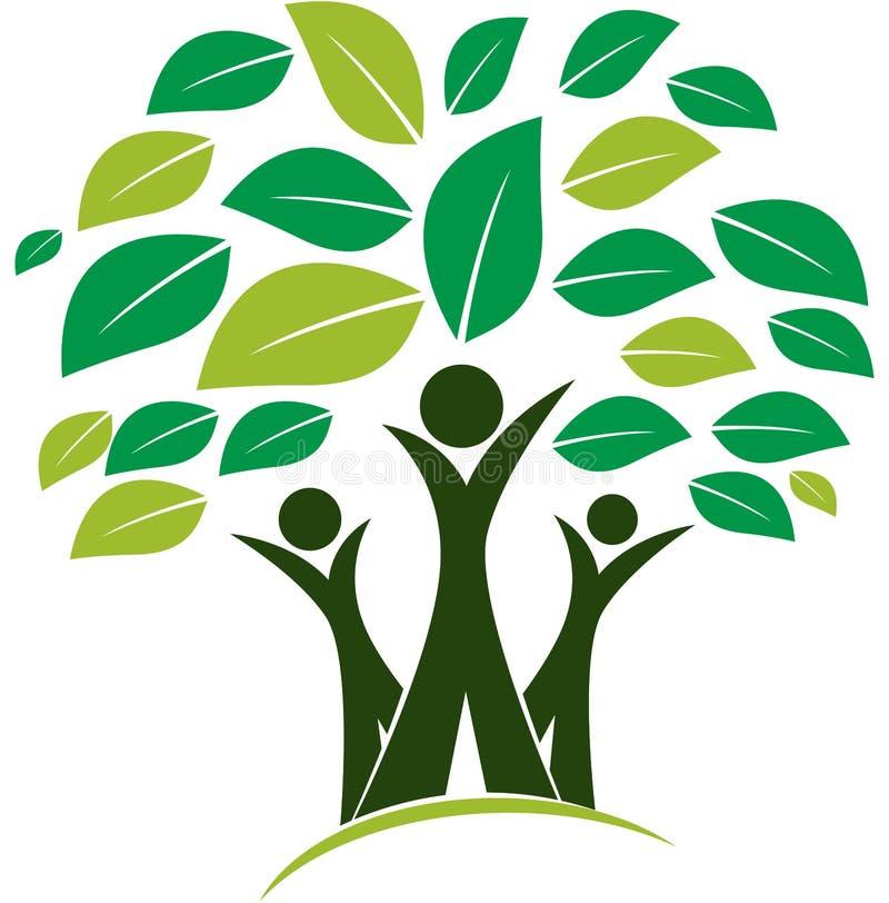 Logo dell'illustrazione di vettore dell'albero genealogico illustrazione di stock