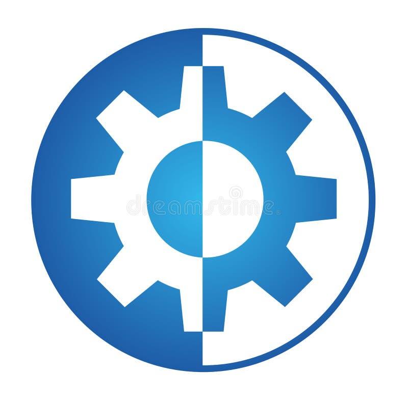 Logo dell'ingranaggio royalty illustrazione gratis
