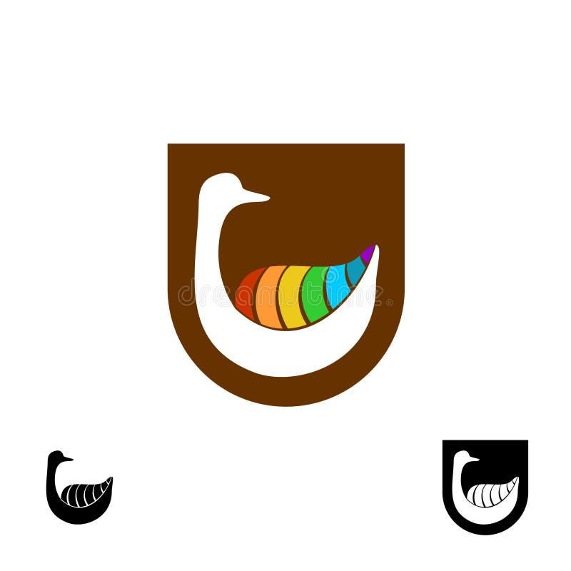 Logo dell'oca illustrazione vettoriale