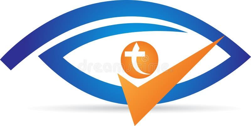 Logo dell'occhio illustrazione vettoriale