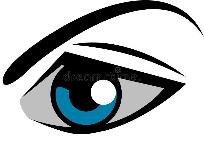 Logo dell'occhio royalty illustrazione gratis