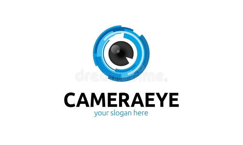 Logo dell'occhio della macchina fotografica illustrazione di stock