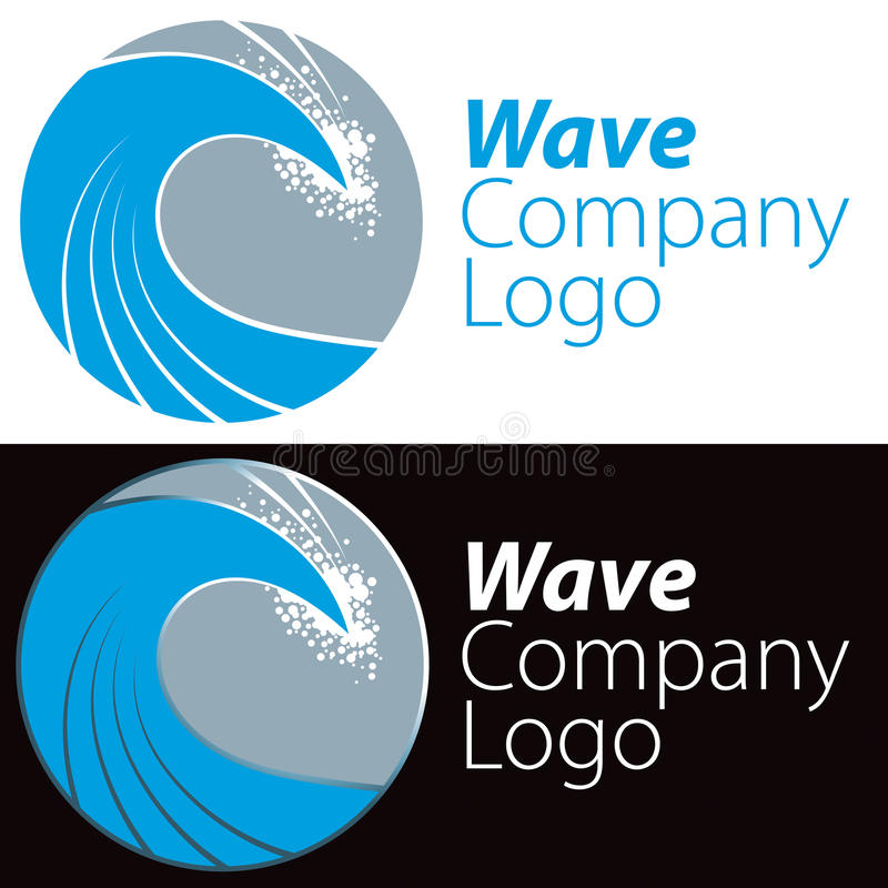 Logo dell'onda di oceano illustrazione di stock