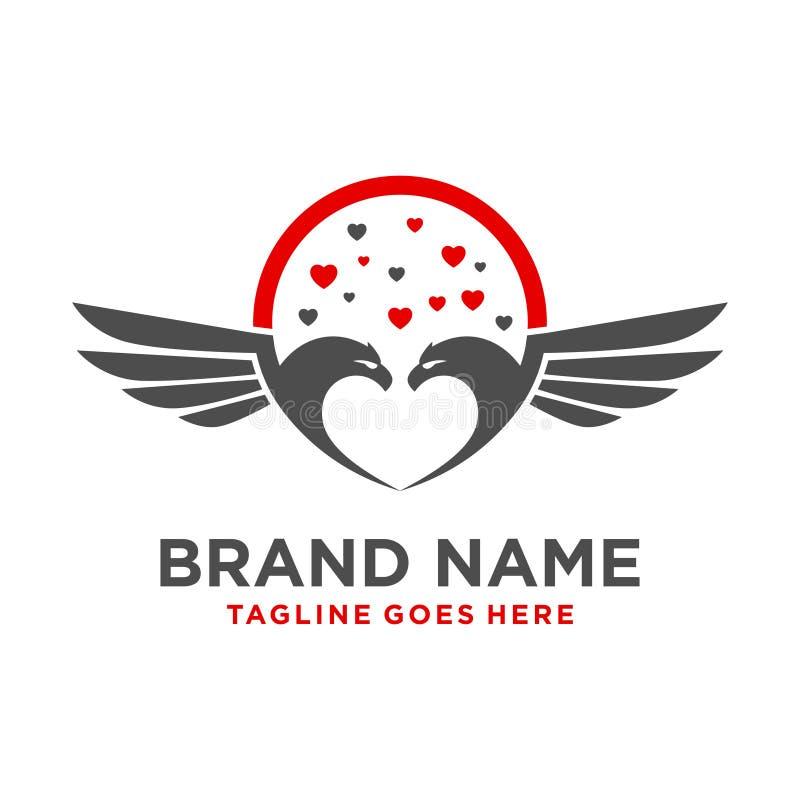 Logo dell'uccello di amore royalty illustrazione gratis