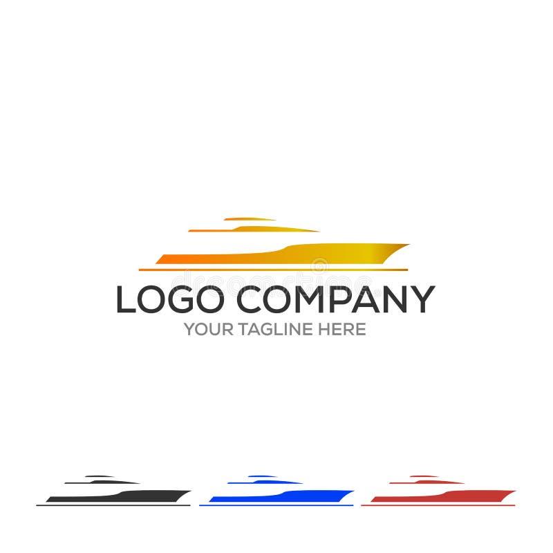 Logo dell'yacht Illustrazione semplice dell'icona di vettore dell'yacht per il web illustrazione di stock
