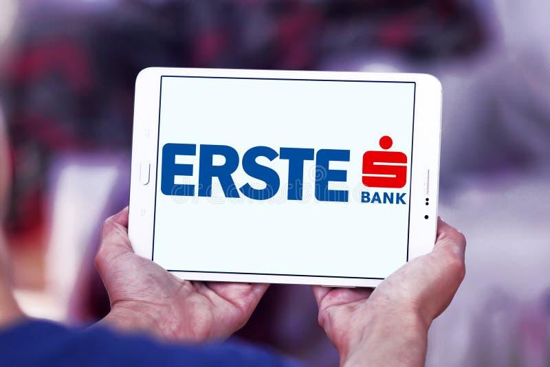 Logo della Banca del gruppo di Erste immagini stock libere da diritti