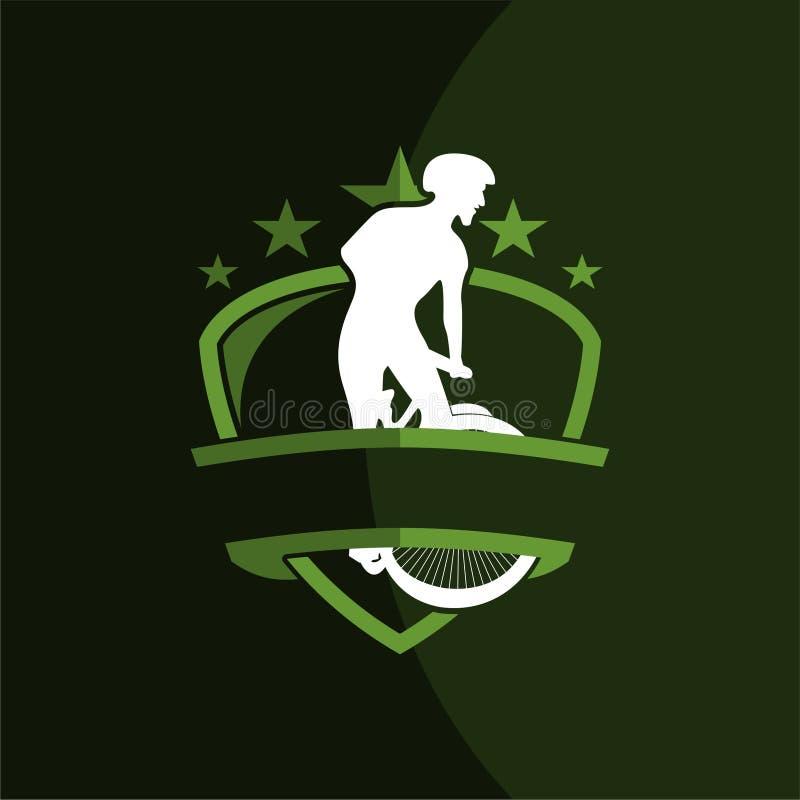 Logo della bici di E-sport illustrazione vettoriale