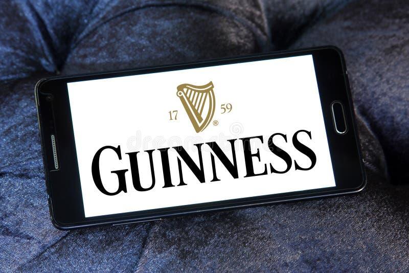 Logo della birra di Guinness fotografia stock libera da diritti