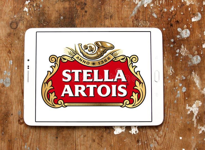 Logo della birra di Stella Artois fotografia stock