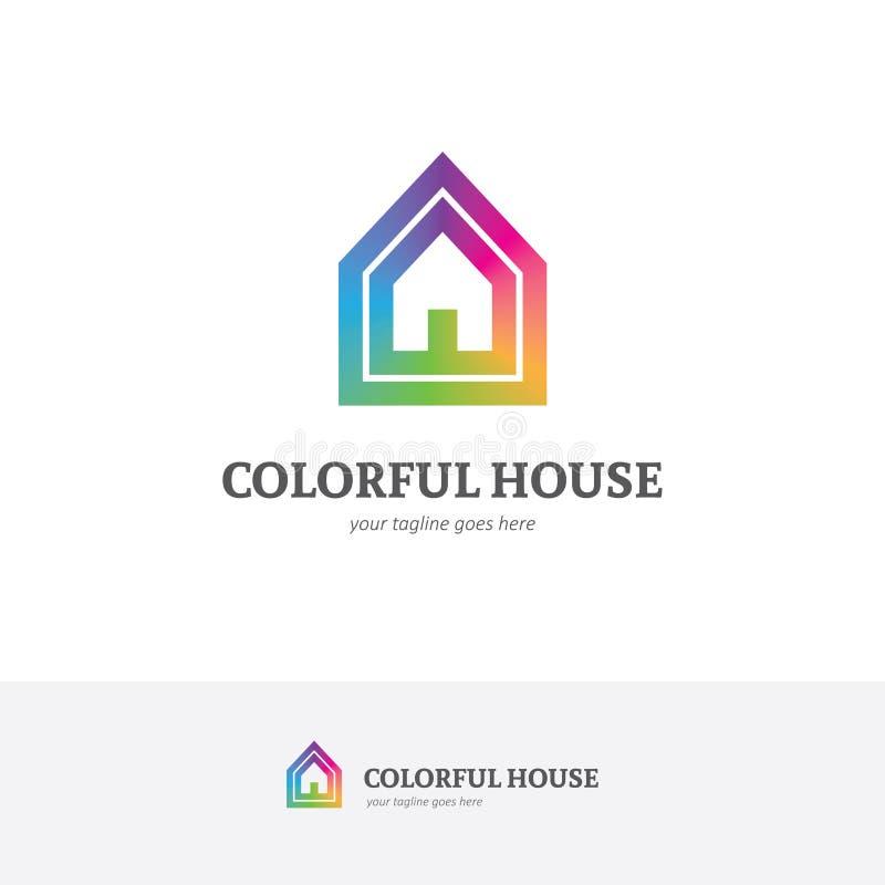 Logo della Camera nei colori di un arcobaleno royalty illustrazione gratis