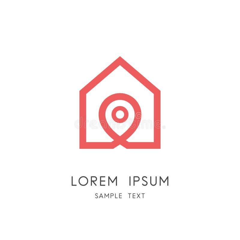 Logo della casa - casa del profilo e simbolo di indirizzo royalty illustrazione gratis