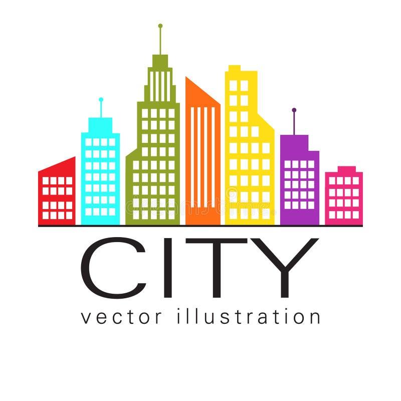 Logo della citt icona di web della costruzione di for Design city milano