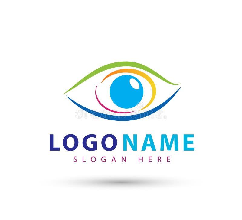 Logo della clinica di occhio, modello futuro di vettore di simbolo di bellezza di progettazione di logo di vettore di visione del royalty illustrazione gratis