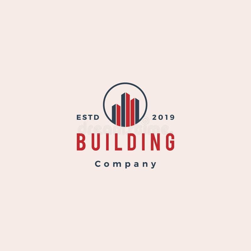 Logo della costruzione e del bene immobile illustrazione vettoriale
