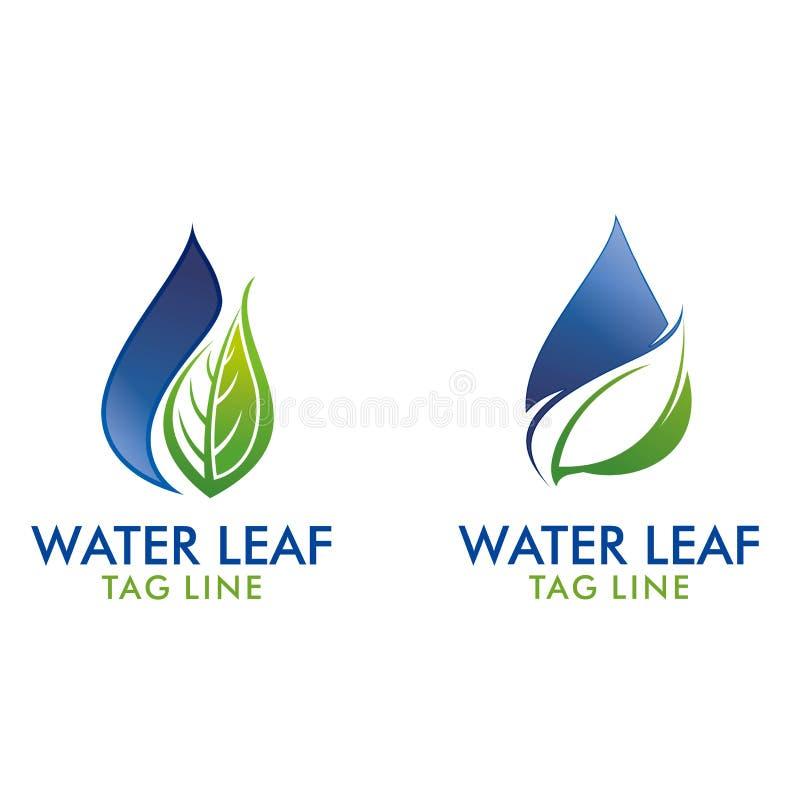 Logo della foglia dell'acqua fotografia stock libera da diritti