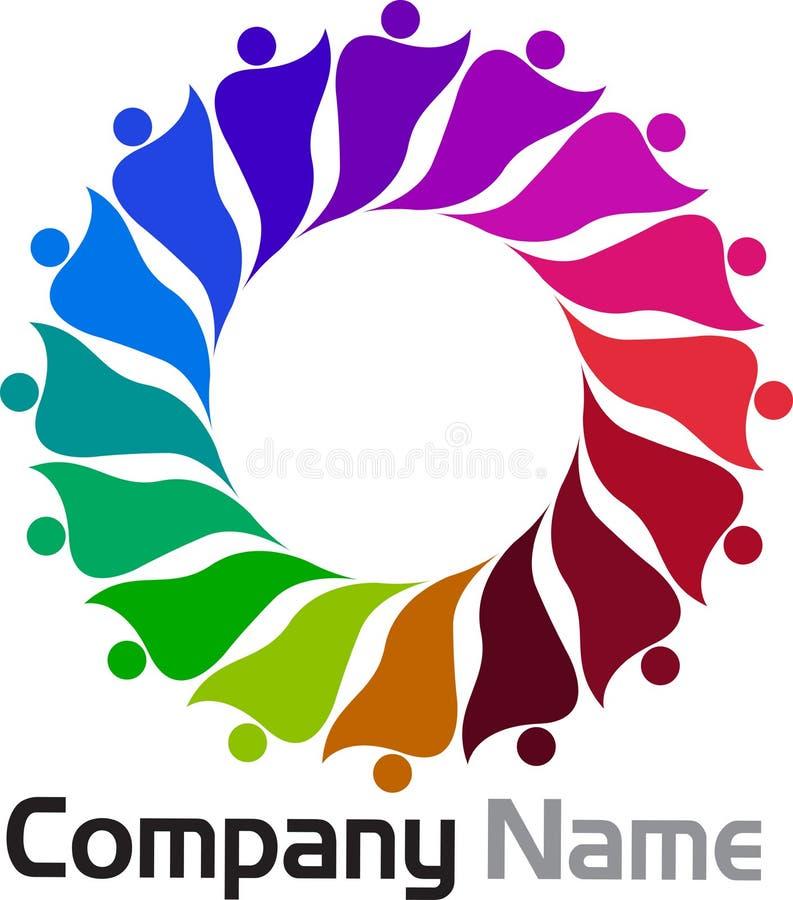 Logo della gente illustrazione vettoriale