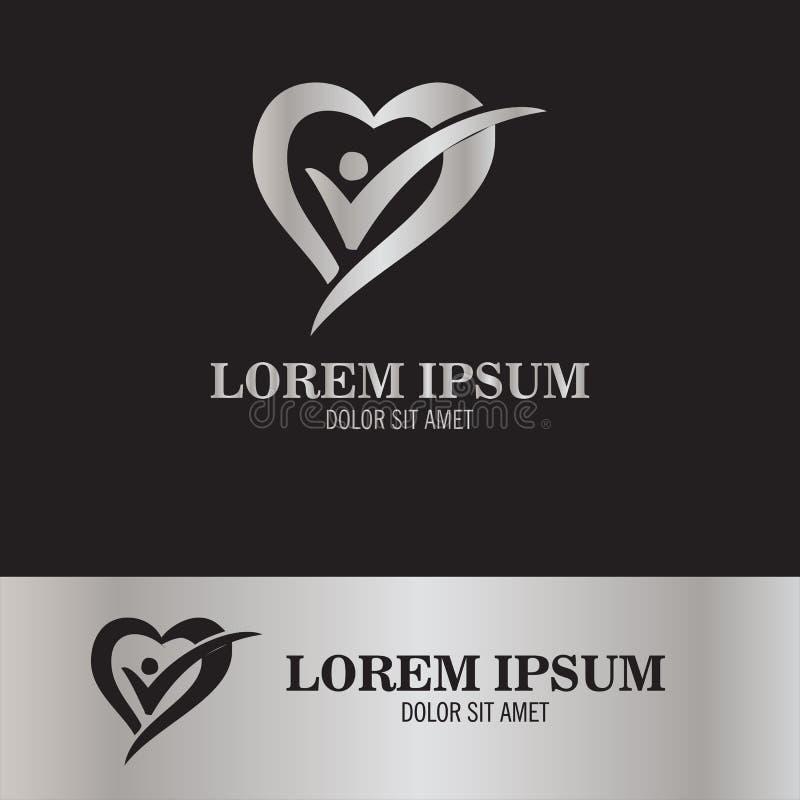 Logo della gente del controllo di amore illustrazione vettoriale