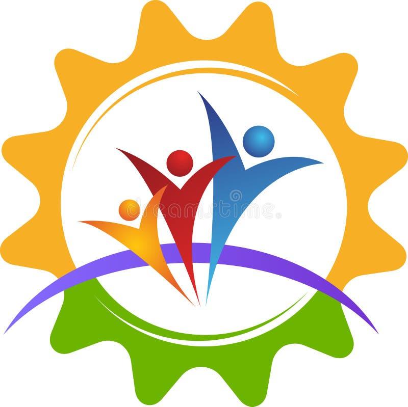 Logo della gente dell'ingranaggio royalty illustrazione gratis