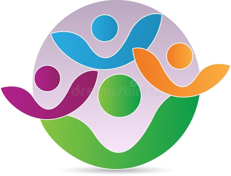 Logo della gente della famiglia illustrazione di stock