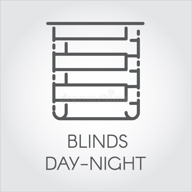 Logo della giorno-notte dei ciechi Icona che assorbe stile del profilo Etichetta del grafico di vettore royalty illustrazione gratis