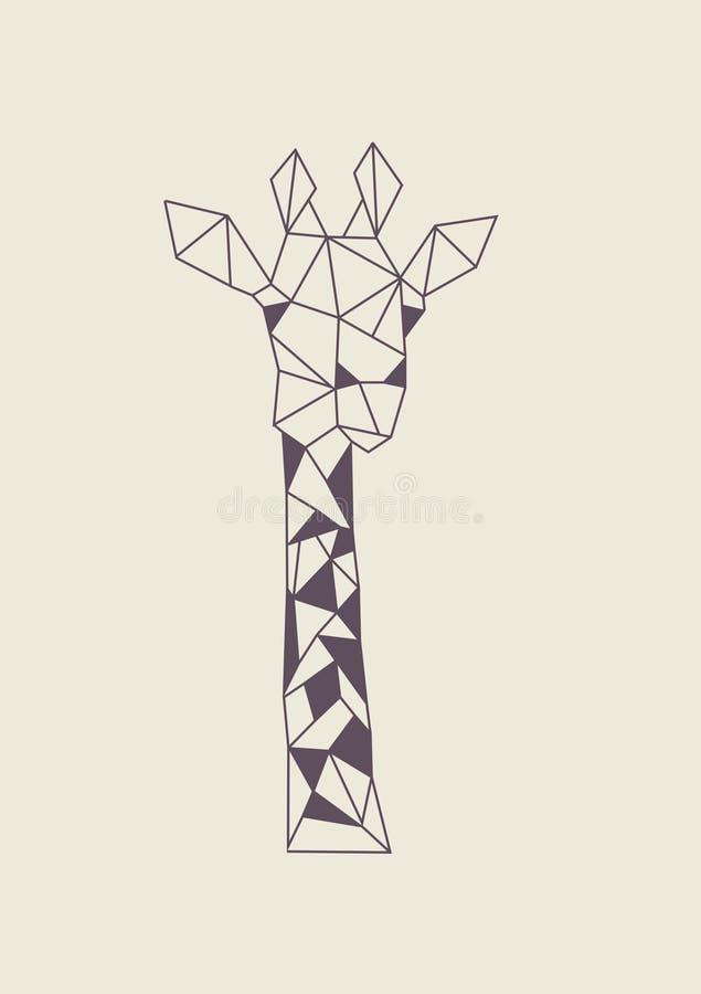 Logo della giraffa immagini stock