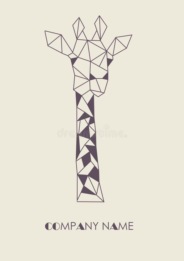 Logo della giraffa immagini stock libere da diritti