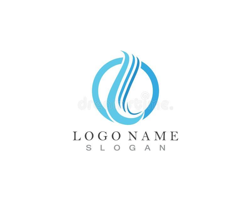 Logo della goccia di acqua illustrazione vettoriale